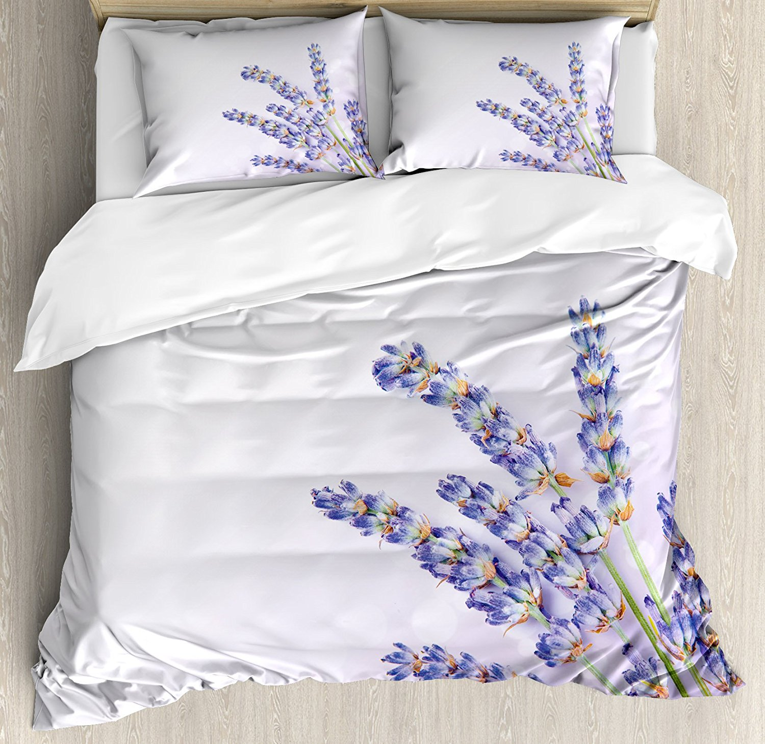 Lavender duvet cover set little posy of medicinal herb fresh plant of purple flower spa aromatheraphy organic 4pcs bedding set in bedding sets from home