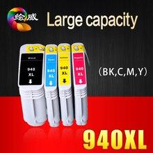 4 Шт. картридж Для HP 940 940XL C4906A C4907A C4908A C4909A полный совместимый патрон чернил Для HP Officejet Pro 8000 8500