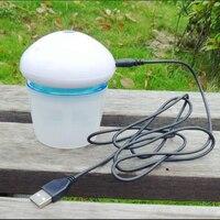 2017 Gorąca Sprzedaż Mini USB Lampka nocna Oczyszczacz Powietrza do Samochodu i Sypialnia DC 5 V Kształt Grzyb Oleju Niezbędne Aroma Dyfuzor