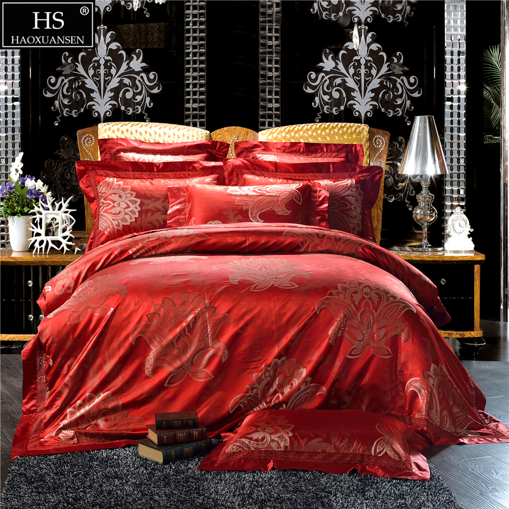 Luxury Jacquard Satin 28 Momme Mulberry Silk 4pcs Bedding Sets European King Size Bedroom Set Duvet Cover Flat Sheet Pillow Case