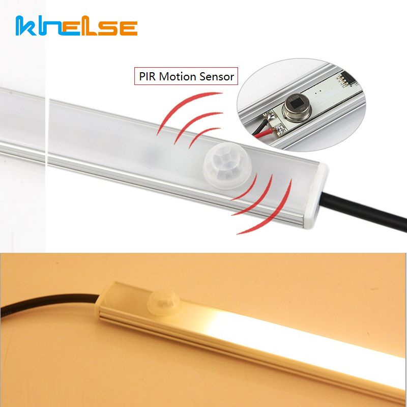 PIR Motion Sensor LED Light Bar Lamp IR LED Cabinet Lamp Night Light Closet Kitchen Lamp 6W 11W LED Strip lamp DC plug 30cm 50cm dc 5v pir auto body motion sensor led night light usb powered cabinet closet wall lamp intelligent bedroom kitchen home lighting