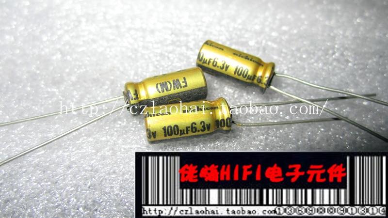 6 pcs Nichicon KA Series 35v 100uf Audio Grade