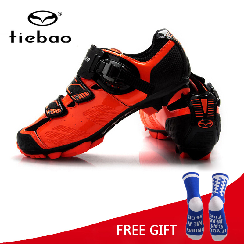 Tiebao Racing Men MTB Mountain Bike Shoes Bicycle Cycling Shoes Self-Locking Nylon-Fibreglass Riding Shoes zapatillas ciclismo