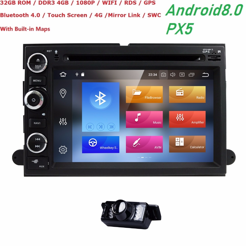4G 1024*600 OctaCore Android8.0 Car DVD For Ford Fusion Explorer 500 F150 F250 F350 Edge Expedition Mustang Radio GPS Navigation4G 1024*600 OctaCore Android8.0 Car DVD For Ford Fusion Explorer 500 F150 F250 F350 Edge Expedition Mustang Radio GPS Navigation
