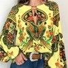 S-5XL Women Bohemian Clothing Blouse Shirt Vintage Floral Print Tops Ladies Blouses Blusa Feminina Plus size 2