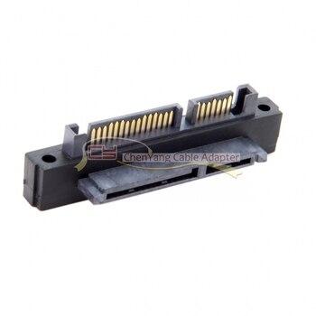 100PCS/CY Up Angled 90 Degree SATA 22Pin 7+15 Male to SATA 22Pin Female Extension Convertor Adapter