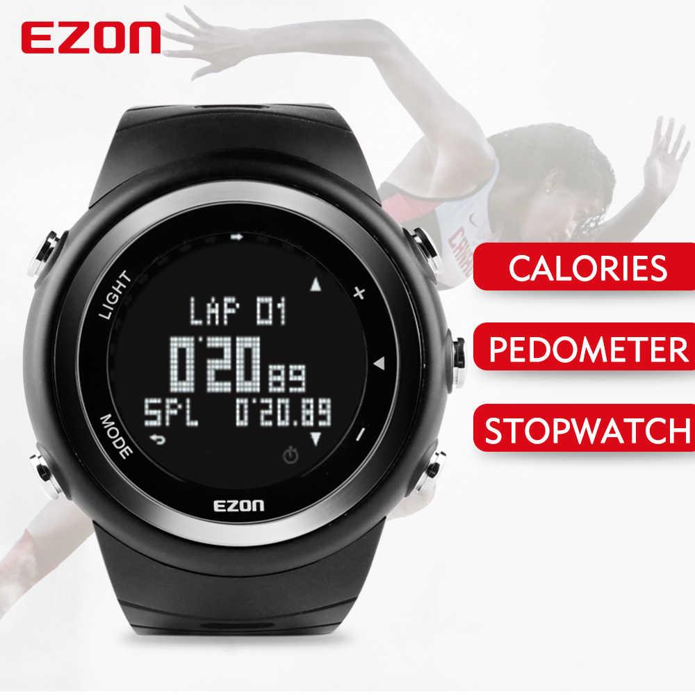 EZON T023 Men Outdoor Running Sports Watch Digital Casual Pedometer Watches Calories Counter Waterproof Multifunction Wristwatch