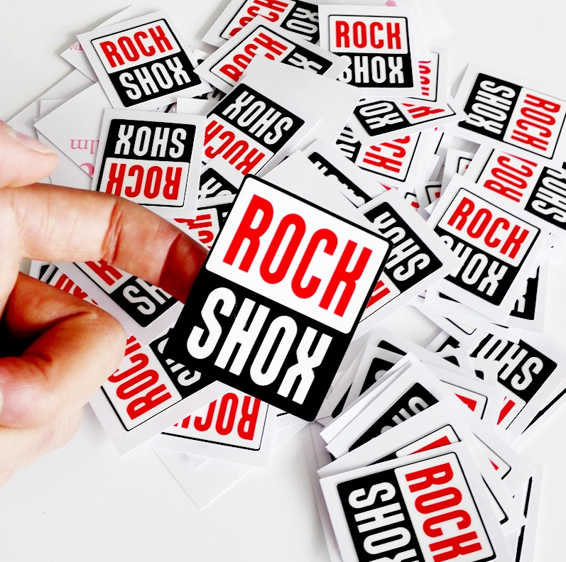 4 Pics Rock Shox Labels Cycling Stickers Frame Forks Decal Rock Stickers Kit