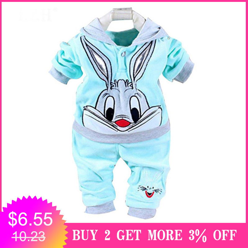 2020 Autumn Spring Kids Baby Boy Clothes Kids Hooded Animal Newborn Clothes For Girl Outfits Infant Clothing Set 6 9 12 24 Month