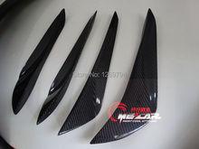 SCION FRS GT86 GTS FT86 BRZ Auto car Carbon fiber front bumper vents splitter aprons for Toyota (Fit non BRZ Only)