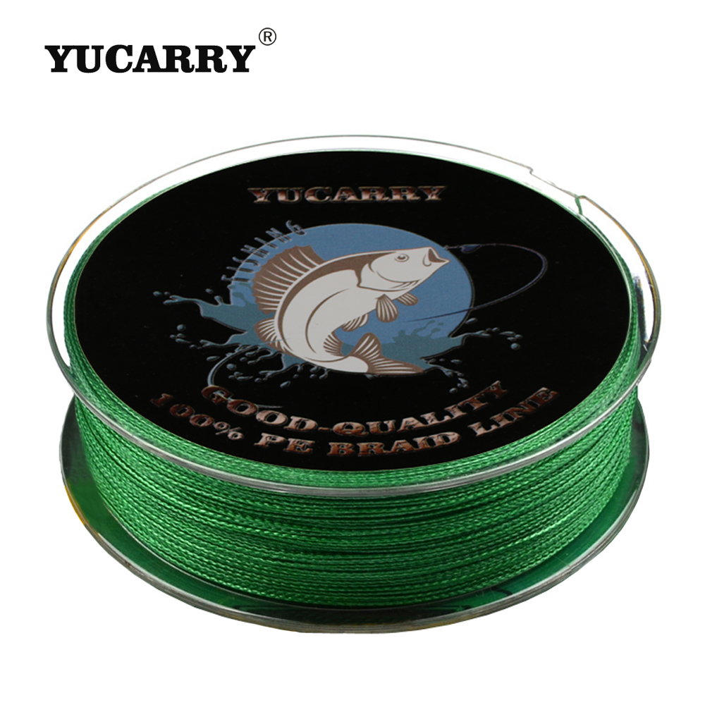 YUCARRY Brand 4 Strands PE Japan Ultra Strong Braided Fishing Line 100m Cord Fishing Accessories 14-80LB 4 Wire Thread 7 Colors