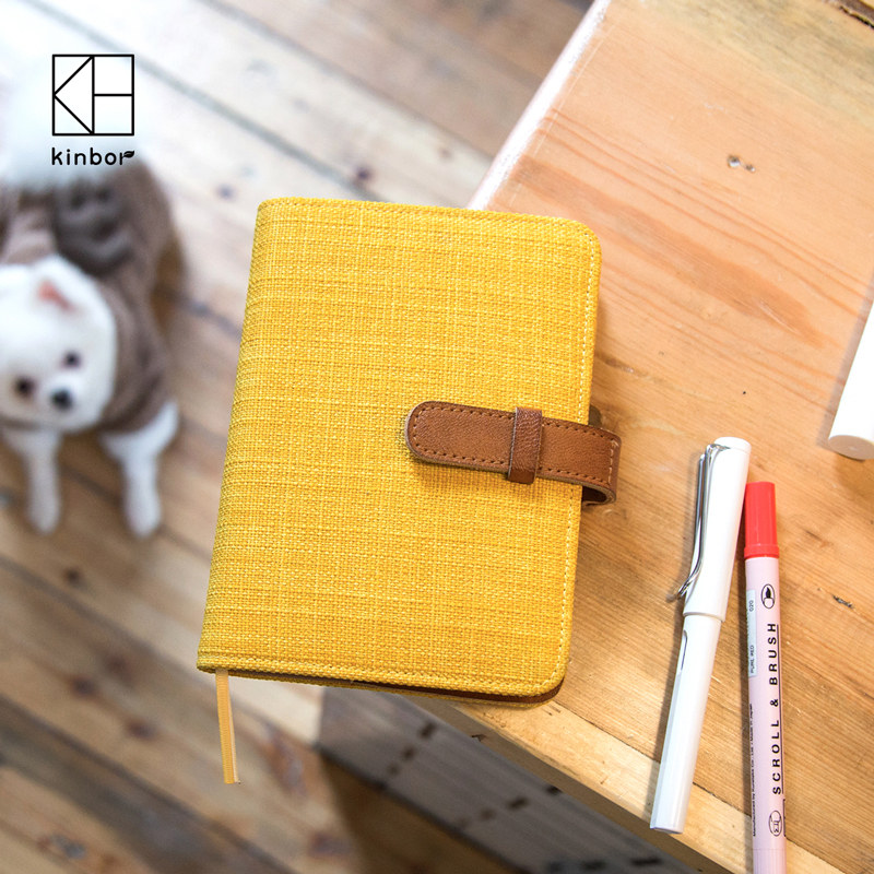 kinbor Classic Cloth A6 Notebook 2017 Planner with Calender Daily Efficiency Book Traveler's Notebook Gift classic notebook vintage