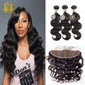 peruvian virgin hair with frontal closure body wave stema hair with closure longqi frontal with bundles Peruvian body wave black
