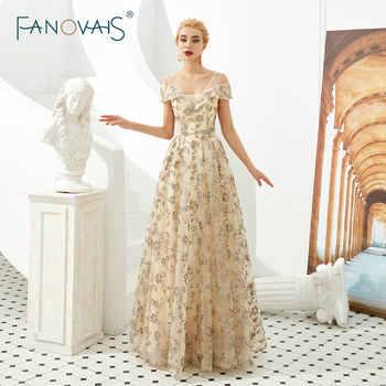 Golden Shinning Glitter Prom Dresses Vestidos De Fiesta Largos Elegantes De Gala 2019 Robe De Soiree Evening Dresses Formal - DISCOUNT ITEM  30% OFF All Category