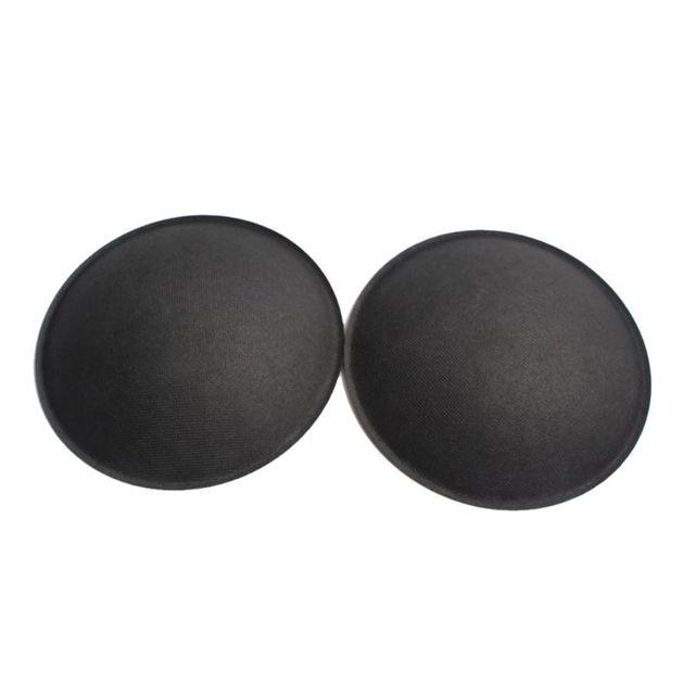Caixa de som cinza preta para áudio, 2 peças, 130mm/150mm, tampa de papel rígido para proteger poeira, subwoofer woofer acessórios de reparo de peças