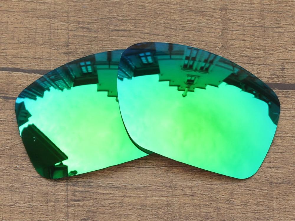 Esmeralda Verde Espelho Polarizado Lentes de Substituição Para O Big Taco  Óculos de Sol Quadro 100% UVA   Uvb 70748065b5
