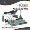 3G/WIFI/GPS E10 Xixun Full Color Sem Fio Android Suporte de Cartão de Controle Display LED 540*960 pixels, E10 Controlador Sinal táxi Topo