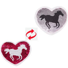 Shinequin Симпатичные двухсторонние нашивки с изображением сердца