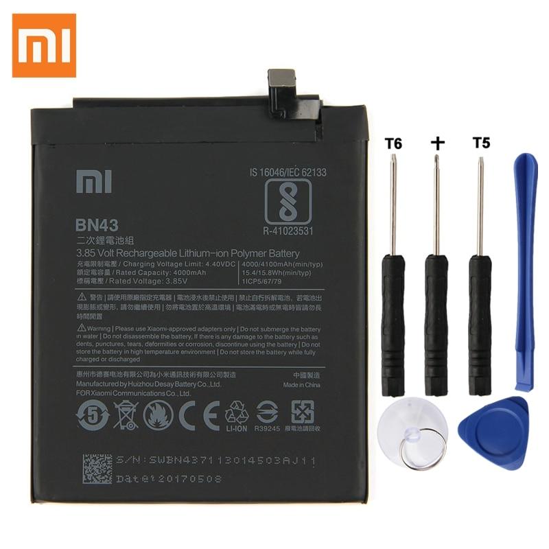 D'origine Batterie De Remplacement BN43 Pour Xiaomi Redmi Note 4X Hongmi Note4X Standard Version Authentique Téléphone Batterie 4000 mah