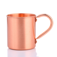 Realand 100 Pure Copper Moscow Mule Mug 14OZ Solid Smooth Without Inside Liner For Cocktail Coffee
