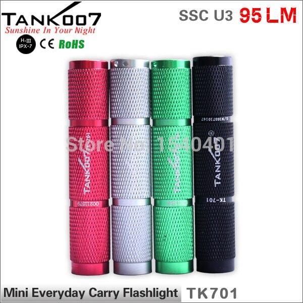 TANK007 TK701 90Lumen cree u3 zoom 1-mode edc Black Mini LED Pocket flashlight torch usb charge Light 1*AAA цена