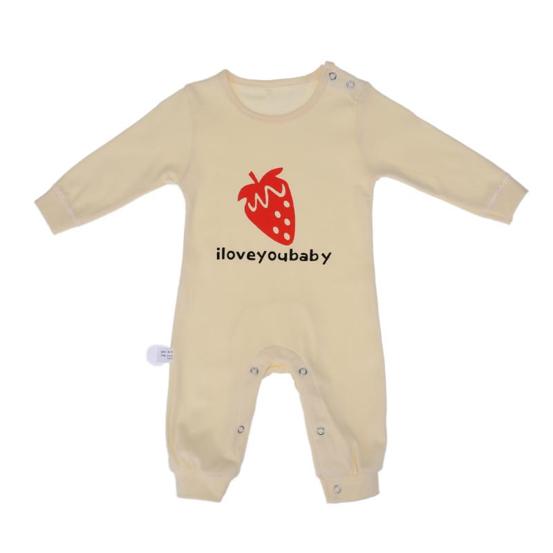 Baby Infant Romper Cotton Strawberry Printed Boys Girls Long Sleeve Rompers Autumn Fashion Cute Infant Jumpers Suit Clothes