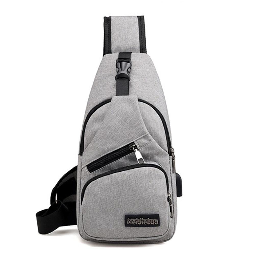 Men Usb Charger Port Anti Theft Chest Pack Rucksack Shoulder Sling Bag Multifunction Backpack Men's Messenger Waist Bag