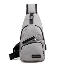 Men USB Charger Port Anti-theft Chest Pack Rucksack Shoulder Sling Bag Multifunction Backpack Men's Messenger Waist bag