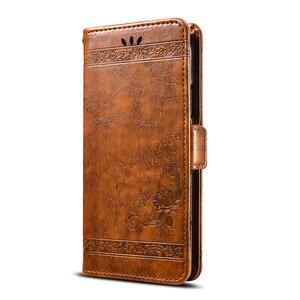 Image 2 - For BQ Aquaris X Pro Case Vintage Flower PU Leather Wallet Flip Cover Coque Case For BQ Aquaris X Pro Phone Case Fundas