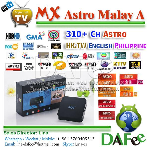 Dual Core MX Android HD IPTV Box Malaysia Astro AOD Chinese