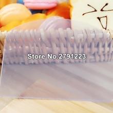 Высокое качество мягкое тесто Обледенение Фондант скребок торт украшения выпечки Кондитерские инструменты плотная Гладкий зубчатые края лопатки фрезы