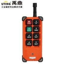 F21 E1B 1 transmissor/6 botões 1 velocidade grua guindaste de controle remoto transmissor rádio sem fio controle remoto rransmitter