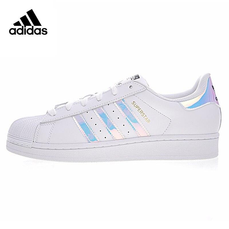 Adidas Super Star для мужчин и женщин обувь для скейтбординга Спорт на открытом воздухе дизайнер белый плоский носимых легкий дышащий AQ6278