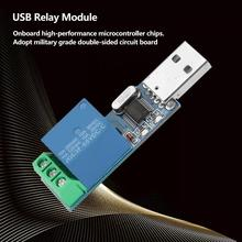 цена на USB Relay Module MCU PC USB Smart Control Switch Jog Self-Locking Serial Port Intelligent Control Relay Module