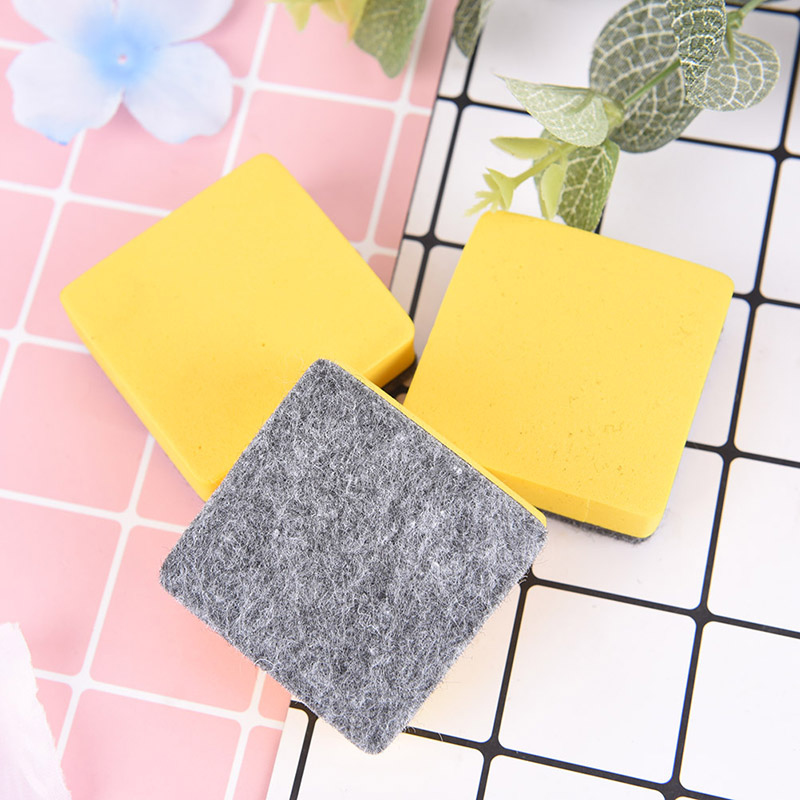 2 Pcs Yellow Whiteboard Blackboard Wipe Dry Marker Cleaner Magnetic Felt Eraser School Supply