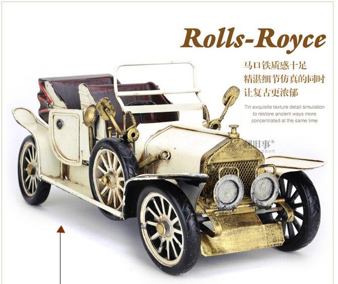 35 CM-Vintage fer métal TOP COOL Pure main rétro classique voitures modèle-maison bureau BAR haut style rétro décor art - 2