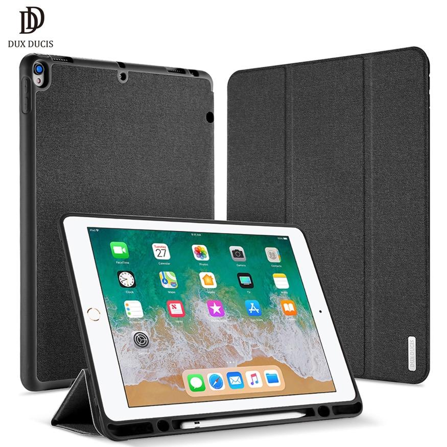 DUX DUCIS Cassa del Cuoio di Vibrazione Per iPad Pro 12.9 2017 di Lusso Del Basamento Astuto Della Copertura per iPad Pro da 12.9 pollici con supporto della matita Coque Wake