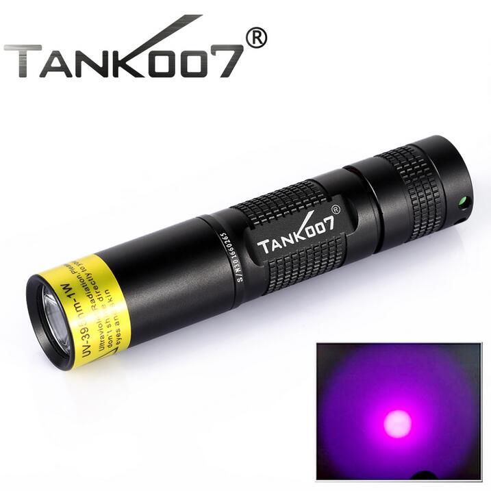 Оригинал TANK007 TK566 СВЕТОДИОДНЫЙ Фонарик УФ 395nm 1 Вт Черный Свет Пункт Pesca Япония Факел Linterna <font><b>Ultravioleta</b></font>