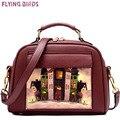 Flying birds bolsa da marca no ombro saco saco do mensageiro das mulheres de couro do saco das mulheres sacos bolsos bolsa estilo europeu e americano ls8235fb