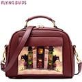 Flying birds mujeres bolsa de hombro bolsa de mensajero bolsas de marca bolso de cuero bolsos estilo europeo y americano bolso ls8235fb