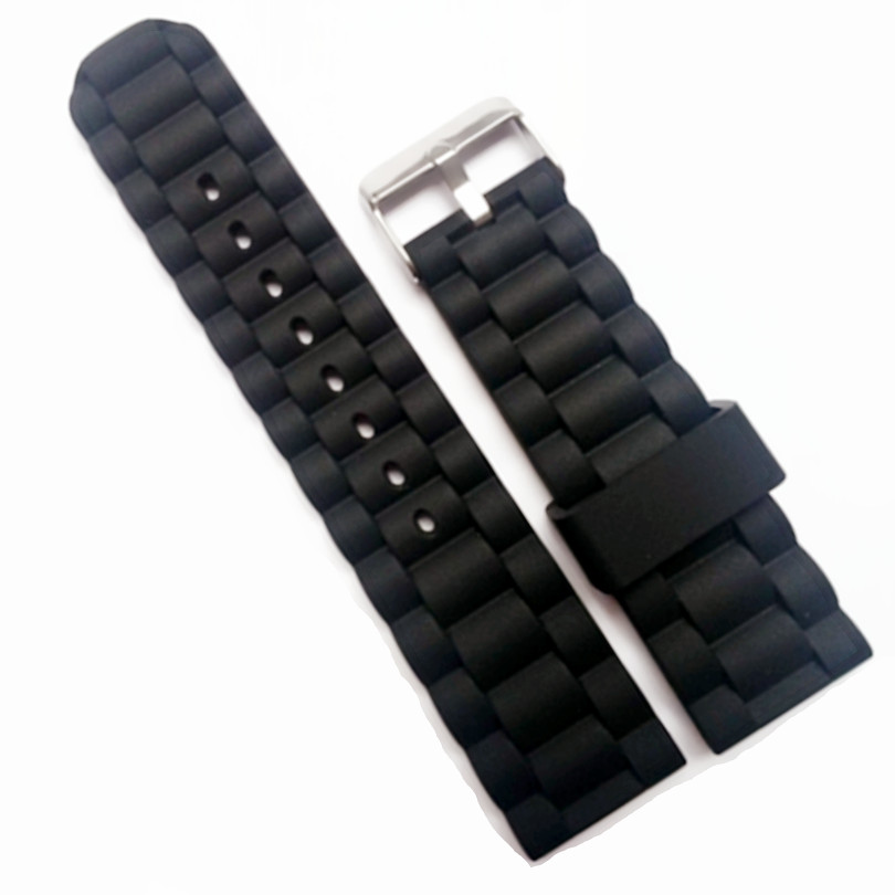 New Strap Waterproof Silicone Rubber WatchBand Bracelet Pin Clasp / Buckle Stripes 16mm 20mm 24mm Watchband