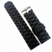 New Strap Waterproof Silicone Rubber WatchBand Bracelet Pin Clasp / Buckle Stripes 16mm 20mm 24mm Watchband все цены