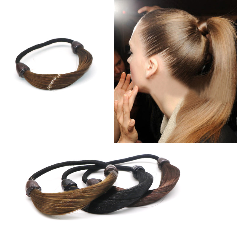 New Girls Rubber Bands Wig Elastic Hair Bands Scrunchies Ponytail Holder Women Female Hairbands Ties Gum For Hair Accessories