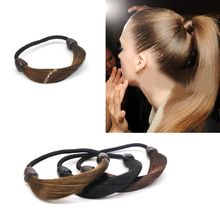 New Girls Rubber Bands Wig Elastic Hair Scrunchies Ponytail Holder Women Female Hairbands Ties Gum for Accessories