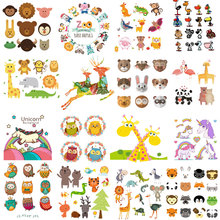 Cute Cartoon Animal Iron On Patches Clothes decor Sticker DIY Unicorn stripes badges Thermal Heat Transfer for T-shirt Print E