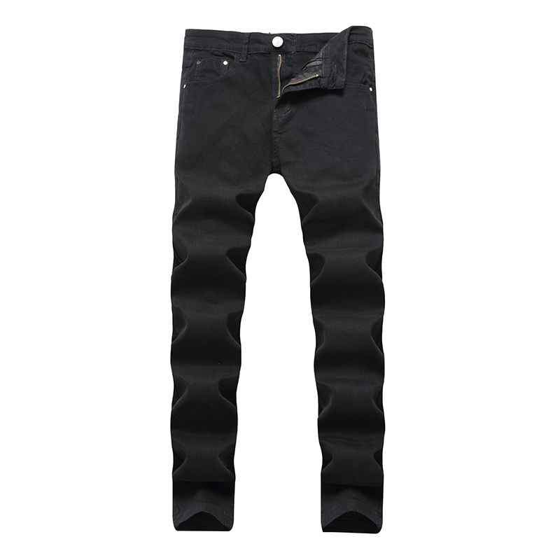 ABOORUN 2018 New Mens Skinny Jeans Solid Elastic Pencil Denim Candy Colors Casual Joggers for Male x576