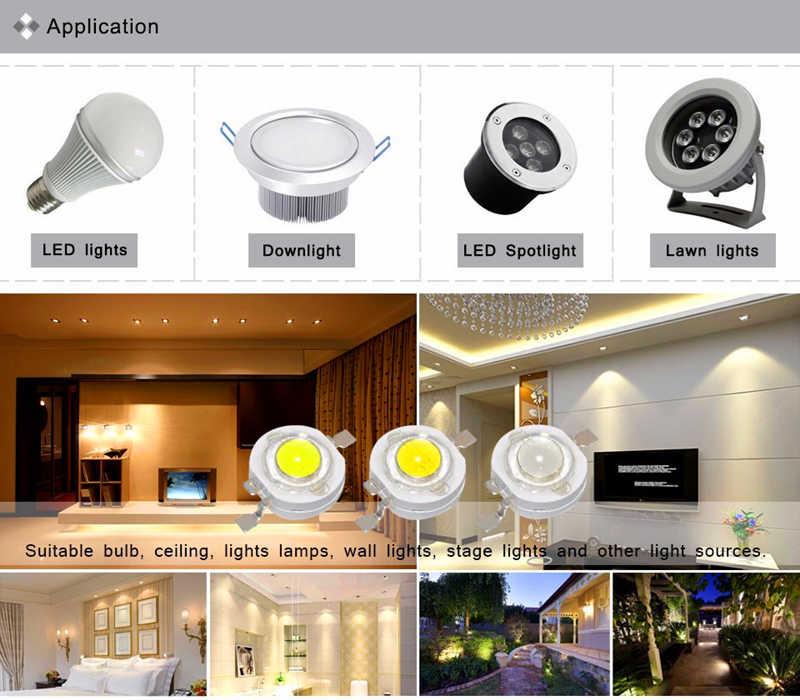 10 Pcs Lampu LED DIY Dioda Grosir Lampu Chip Lampu Manik-manik Putih Merah Biru Kuning SMD LED Tongkol Chip dengan PCB 1 W 3 W High Power