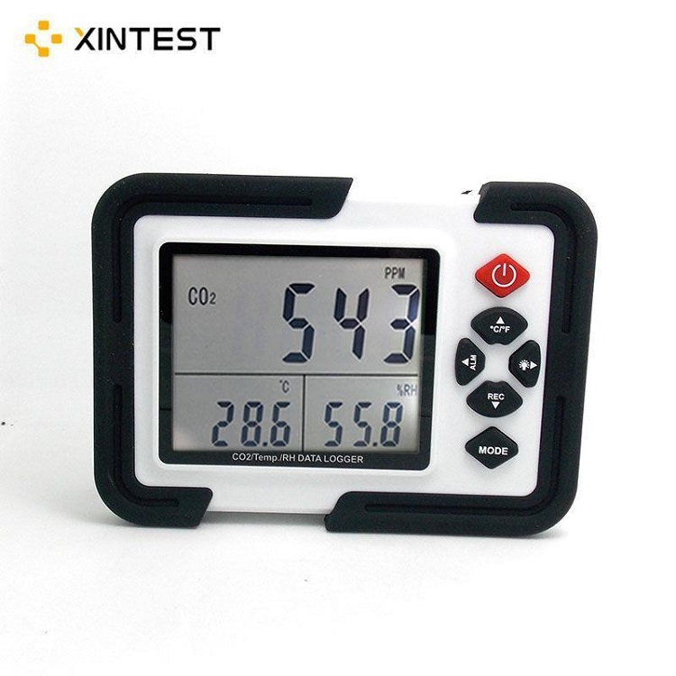 Portable Digital CO2 Meter CO2 Monitor Detector HT-2000 Gas Analyzer 9999ppm CO2 Analyzers Temperature Relative Humidity Test 9999ppm carbon dioxide co2 monitor detector air temperature humidity logger