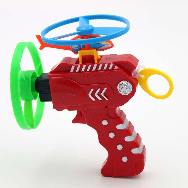 Gyro Skeleton Flying Skeletal Pistol Pans Ufo Dragonfly Children Toy Gun Outdoors Sports Kids Toy Plastic Flying Saucer Toys