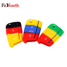 Germany For Volkswagen Golf 7 mk7 Key Case Bag Cover Car Accessories Skoda Octavia A7 Silicone Portect Cases 1Pc